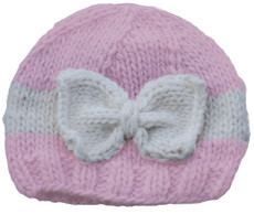 Pink and Cream Sabrina Bow Hat