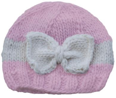 Pink and Cream Sabrina Bow Hat