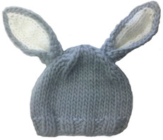 Gray Baby Bunny Hat