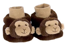 Giggles Monkey Baby Booties