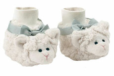 Lamby Baby Booties