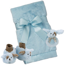 Waggles Booties, Blanket and Rattle Gift Set