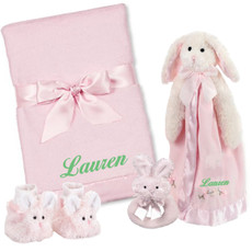 Cottontail 4 Piece Baby Gift Set Personalized