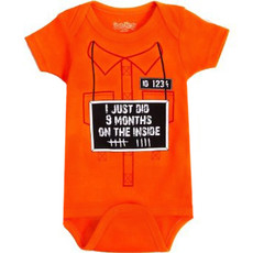 9 Months on the Inside Onesie by Sarakety