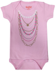 Pink Necklaces Onesie by Sarakety