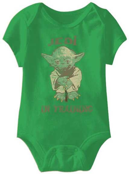 353214db2 Jedi in Training Star Wars Baby Onesie | Unique Baby Onesies