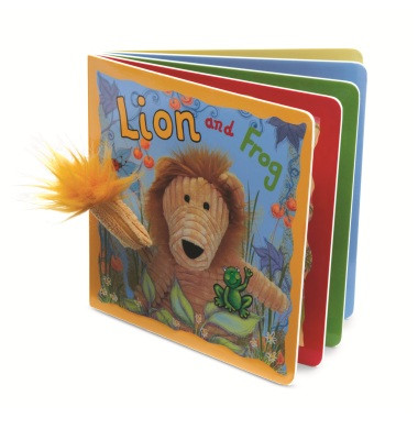 Lion and Frog Book from Jellycat
