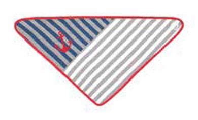 Gray Striped Bandana Bib