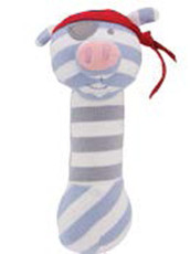 Pirate Pig Organic Squeaky Toy from Apple Park Farm Buddies