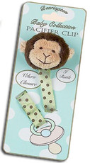 Giggles Monkey Pacifier Clip