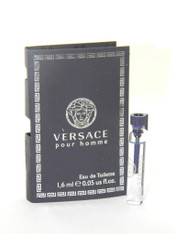 3 x Versace Pour Homme Eau De Toilette EDT Vial Sample 1,6ml 0.05oz