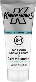 2-in-1 No Foam Shave Cream & Daily Moisturiser (20ml) Trial Tube