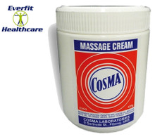 White massage cream. 435g tub. This is a 'wipe-on', 'wipe-off' massage treatment cream that leaves no oily residueAll natural ingredients: including beeswax, almond oil, paraffin wax, white medicinal oil, de-ionised water, borax powder, fragrance in a cream base.