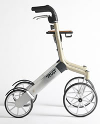 Trust Lets go out rollator is a durable,very attractive and very popular rollator designed for professionals, their patients and the public.
