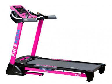 FF-F80P Freeform Marathon Runner Treadmill w/ Polar Wireless Rec & Chest Belt - Pink