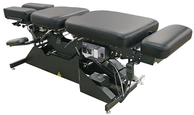 Tradeflex auto flexion treatment table also has the newly engineered variable flexion speed and a treatment timer