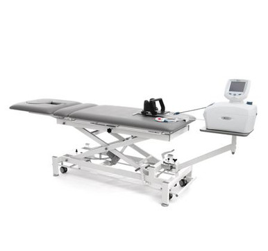 GALAXY Traction Table is used by practitioners Worldwide. The Galaxy Traction table is designed for performing the treatment of the spine.