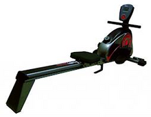 The HS1100R rower   Manual-resistance rowing machine with 120kg user rating and 8 levels