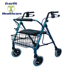 Low Mack Bariatric Walker is constructed from heavy-duty aluminium for durability & features a removable padded backrest with easy release pins