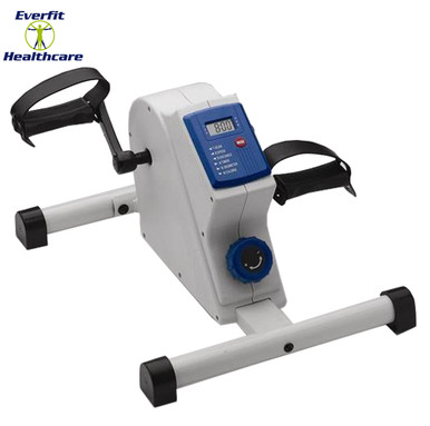 The digital pedal exerciser is a compact lightweight exerciser which is self powered and portable.