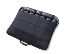 Black Quilted Fabric LTV® Seat Cushion