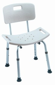 Invacare Careguard Tool-Less Shower Stool is height adjustable and easy to assemble.
