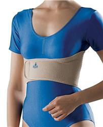 The rib belt provides support and has a hook & loop closure for easy application & removal to reduce pain.
