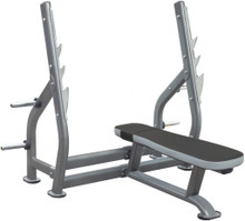 The HS Ultimate Olympic Flat Bench can be used in a commercial or residential environment.