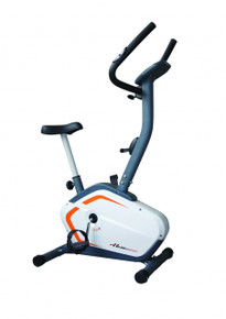 The Healthstream 12.1 exercise Bike is a quality manual bike which has a magnetic resistance (with 8 levels).  It has a transport wheel for easy moving and a comfortable seat and adjustable handlebars for comfort.