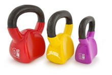 The unique, contoured kettlebell shape is ergonomically designed to wrap around the wrist and forearm, providing a much more comfortable Kettlebell experience. Each Contour Kettlebell comes with a 30-minute, Bob Harper, Kettlebell workout DVD, designed and performed by Bob himself.