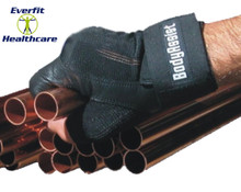 Shock Absorbing Leather Half Gloves (Pair)