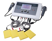 The Multi Stim Combo Unit combines the modalities of Multi Stim, Ultrasound, and Optional Laser Therapy.