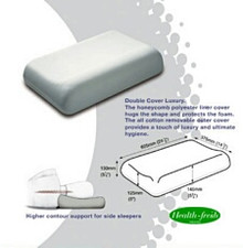 This Dentons High Profile Pillow is best suited for medium or larger framed people who sleep on their side.