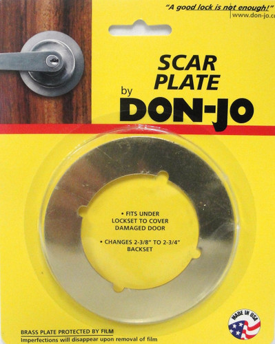 Don Jo Scar Plate Bright Brass Sp 135 605