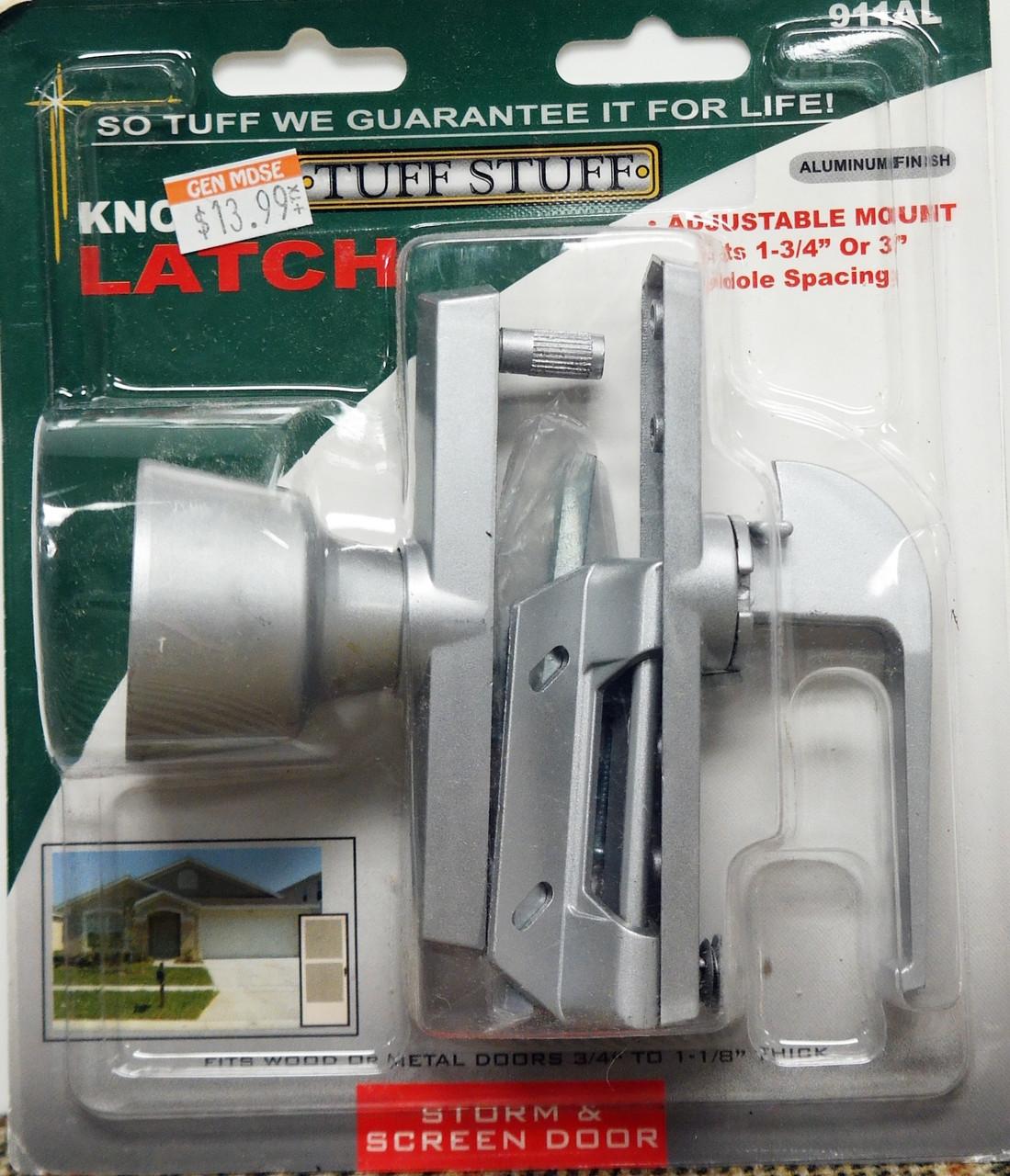 Tuff Stuff Knob Latch Storm Screen Door Handle Aluminum