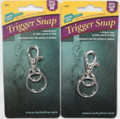 Lucky Line Trigger Snap Small Clip On Key Ring 2 Pack
