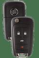 Strattec 5912555 Buick 4 Button Remote Flip Key