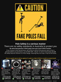 Fake Pole Caution POSTER