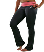 Yoga Pants - Pink Waistband