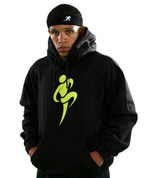 Big Logo Hoodie - Black/Elec. Green