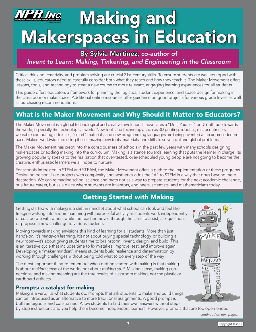 Making and Makerspaces in Education cover image