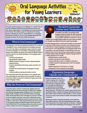 Oral Language Activities