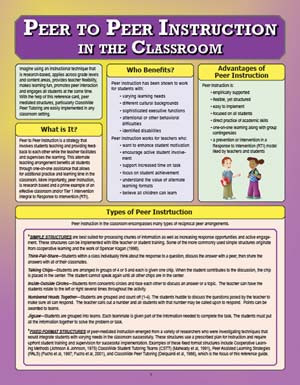 Peer to Peer Instruction in Classroom
