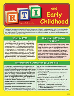 RTI and Early Childhood