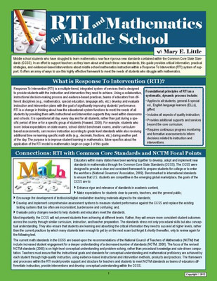 RTI and Mathematics Middle School