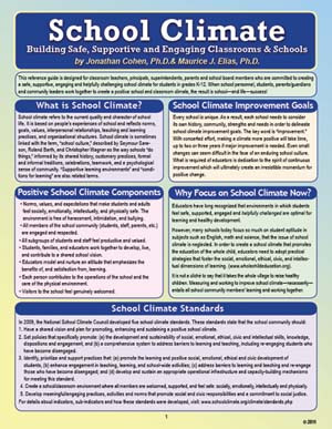 School Climate: Safe Supportive Engaging Classrooms