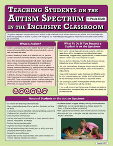 Teaching Students on the Autism Spectrum in the Inclusive Classroom cover