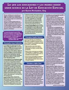 What Educators and Parents Need to Know About Special Education Law (Spanish version) / Lo que los educadores y los padres deben saber acerca de la ley de educacion especial