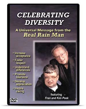 Celebrating Diversity: Message from the Real Rain Man
