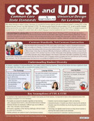 CCSS and UDL: Common Core State Standards and Universal Design for Learning, Laminated Reference Guide by Joe Casbarro